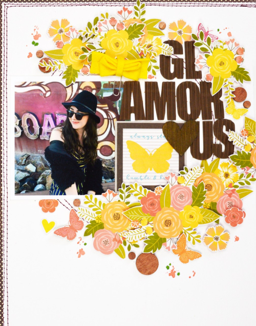 Scrapbook layout using Jillibean Soup.  Jillibean Soup scrapbooker.  #jillibeansoup #scrapbooker #scrapbooklayout