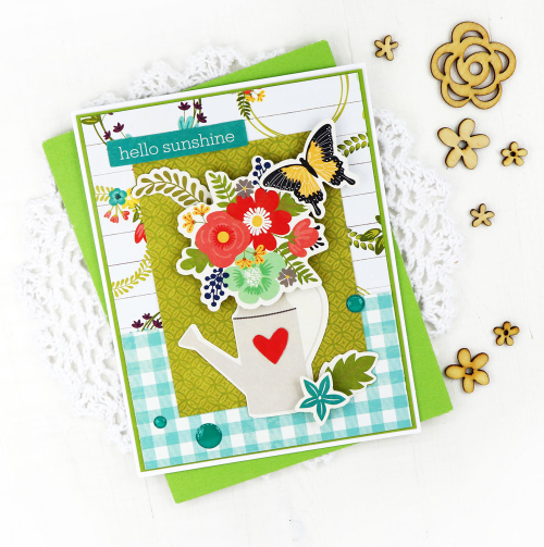 Cards using Jillibean Soup's Garden Harvest collection.  Garden Harvest card set.  Jillibean Soup cardmaking.  #jillibeansoup #cards #cardmaking #gardenharvest