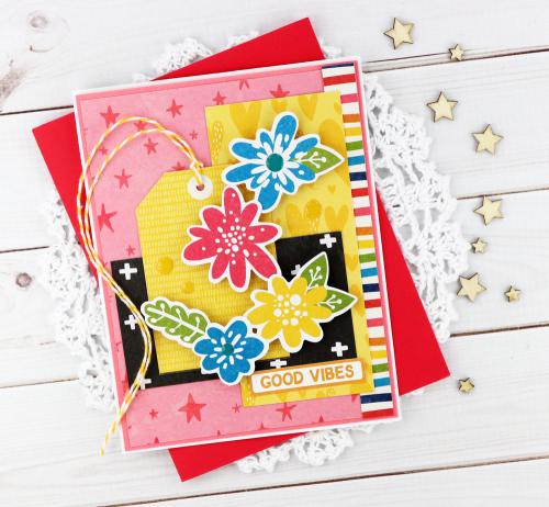 Card created Jillibean Soup's Rainbow Roux collection.  5 cards, 1 collection.  Jillibean Soup cardmaking.  #jillibeansoup #cards #cardmaking #rainbowroux