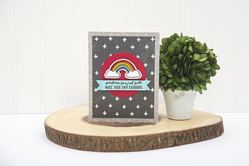 Card created using Jillibean Soup's Rainbow Roux patterned paper and clear stamps.  Rainbow Roux card set.  Jillibean Soup cardmaking.  #jillibeansoup #cardmaking #card #rainbowroux #cardset