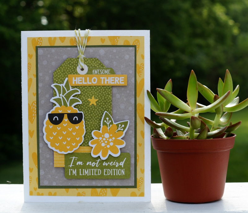 Pineapple card-Sue's Creative Workshop www.sueeldred.com 3354