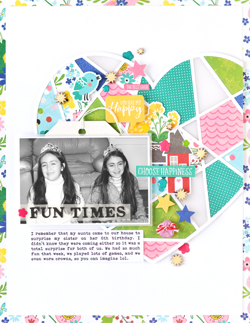Scrapbook layout using Jillibean Soup's cut file, wood veneer shaker fillers, lines tag, All About Dots paper pad and the You Make Miso Happy collection including patterned paper, coordinating stickers, pea pod parts, and epoxy stickers.  I Remember You.  Jillibean Soup scrapbooker.  #jillibeansoup #scrapbooker #scrapbooklayout #cutfile #youmakemisohappy #allaboutdotspaperpad #irememberyou