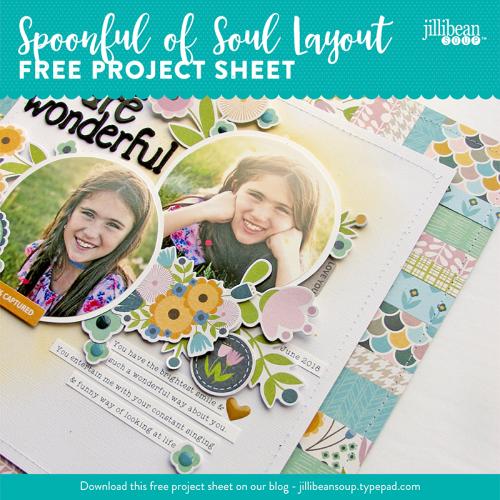 Jillibean-Soup-Project-Sheet-Paper Strips Layout Nicole Nowosad-Social Media