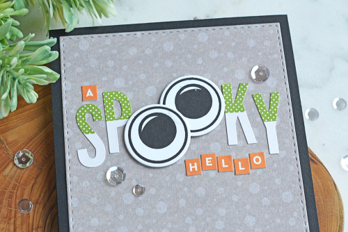 Cards using Jillibean Soup's Monster clear stamp and Rainbow Roux patterned paper.  Halloween themed cards.  Jillibean Soup cardmaking.  #jillibeansoup #cardmaking #cards #monster #stamp #rainbowroux #halloween