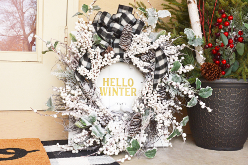Home decor project using Jillibean Soup's cut files.  Winter Mix the Media Project.  Jillibean Soup project.  #jillibeansoup #project #mixthemedia #homedecor #cutfile