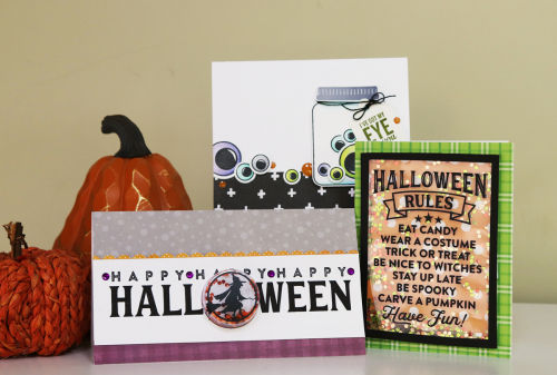 Halloween cards using Jillibean Soup.  Seasonal card set.  Jillibean Soup cardmaking.  #jillibeansoup #cards #cardmaking #halloween