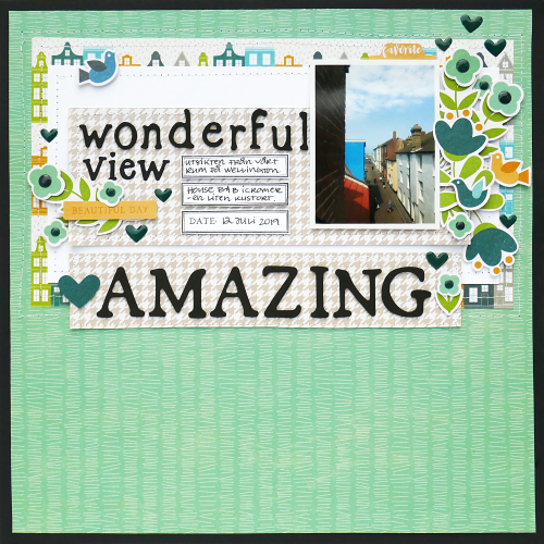 Scrapbook layout created based from a sketch using Jillibean Soup's Garden Harvest foam stickers and the Spoonful of Soul collection including patterned paper, foam stickers, epoxy stickers, pea pod parts, and clear stamps.  How to use a scrapbooking sketch for a layout and a card.  Jillibean Soup scrapbooker.  #jillibeansoup #scrapbooklayout #scrapbooker #sketch #spoonfulofsoul