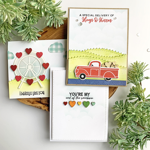 Stamped valentine card using Jillibean Soup's.  Valentine Card Set.  Jillibean Soup cardmaking.  #jillibeansoup #card #cardmaking #stamp #valentine