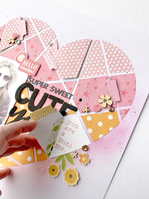 Adding interactive elements to a scrapbooking layout with video tutorial. #jillibeansoup #nicolenowosad #scrapbooking