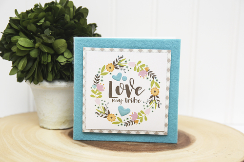 Square card using Jillibean Soup's All About Plaid paper pad, Spoonful of Soul patterned paper, and epoxy stickers.  Square Card Set.  Jillibean Soup cardmaking.  #jillibeansoup #cards #square #allaboutplaidpaperpad #spoonfulofsoul