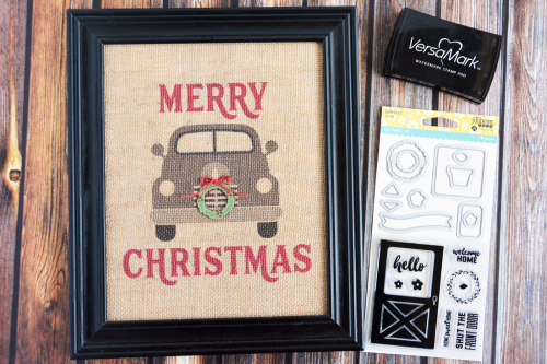 Mix the Media home decor piece using Jillibean Soup's print file and Barn Door stamp and die set.  Creating a seasonal Mix the Media home decor piece.  Jillibean Soup Mix the Media.  #jillibeansoup #project #mixthemedia #homedecor #stampanddieset #printfile