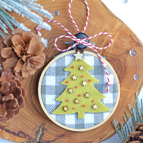 Project using Jillibean Soup's Winter Wishes Stamp and Die Set, Adore Stamp and Die Set, wood veneer stars, and seed beads-warm.  Christmas gift for neighbors.  Jillibean Soup projects.  #jillibeansoup #projects #gift #christmas #stampanddieset