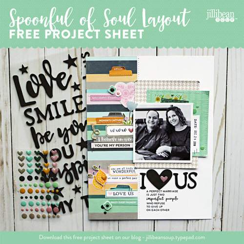 Spoonful of Soul layout project sheet