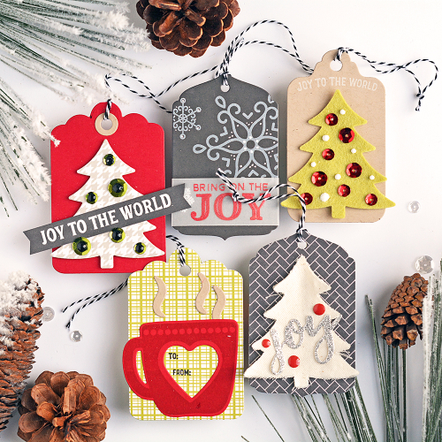 Tags using Jillibean Soup.  Christmas Gift Tag Set.  Jillibean Soup tags.  #jillibeansoup #tags #christmas