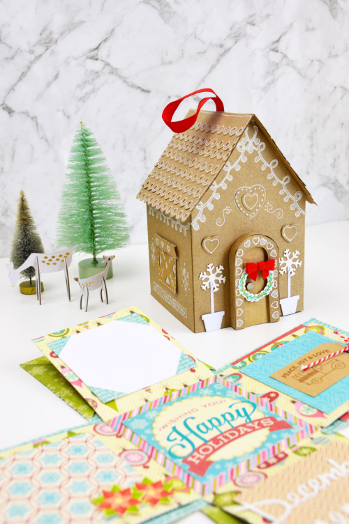 Mini Album using Jillibean Soup's Christmas Cheer Chowder patterned paper, Holly Berry Borscht patterned paper, clear stamps, and stamp and die sets.  Christmas Paper Craft.  Jillibean Soup projects.  #jillibeansoup #project #christmas #papercraft #stamps #stampanddieset #minialbum