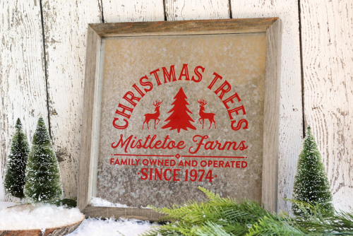 Mix the media project using Jillibean Soup's 12x12 rustic frame galanized and cut files.  Holiday Christmas Decor.  Jillibean Soup Mix the Media.  #jillibeansoup  #christmas #mixthemedia #project #rusticframegalvanized #cutfile #holidaychristmasdecor