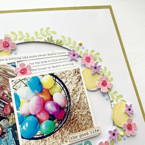 Easter themed scrapbooking layout by Nicole Nowosad for Jillibean Soup