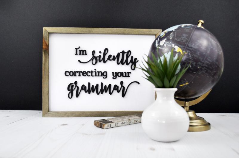 Grammar Sign Photo 2
