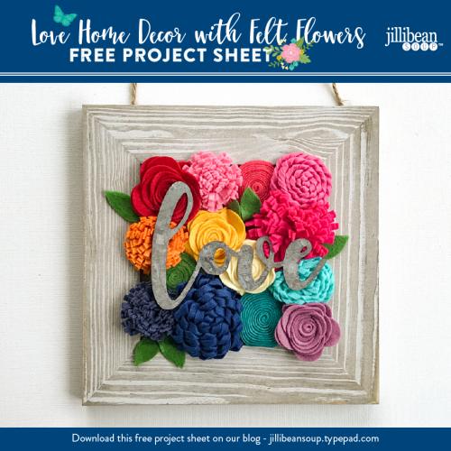 Felt Flowers Project Sheet
