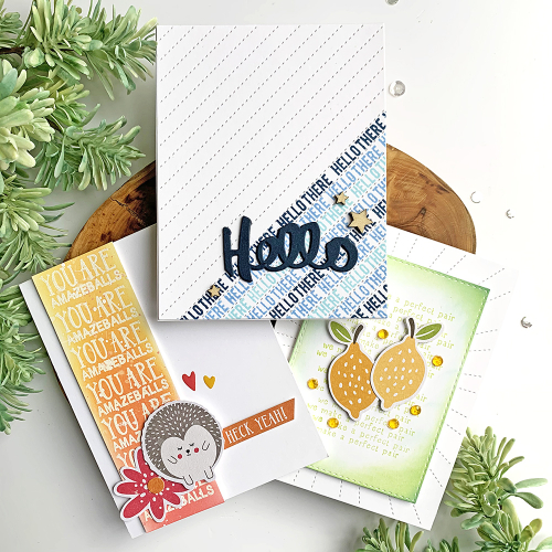 Stamped card using Jillibean Soup.  Using Phrase Stamps to Create Backgrounds.  Jillibean Soup cardmaking.  #jillibeansoup #cards #cardmaking #stamp