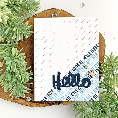 Stamped card using Jillibean Soup's Fabulous clear stamps and wood veneer shaker fillers.  Using Phrase Stamps to Create Backgrounds.  Jillibean Soup cardmaking.  #jillibeansoup #cards #cardmaking #stamp #fabulous