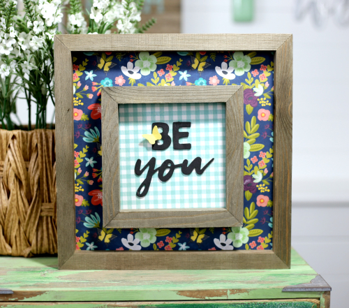 Be You Layered Frame by Jill Yegerlehner for Jillibean Soup. #mixthemedia #framediy #jillibeansoup