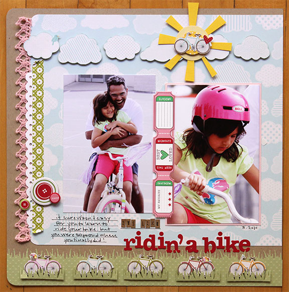 Layout-Lisa ridin a bike
