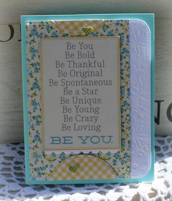 April be you card danni reid