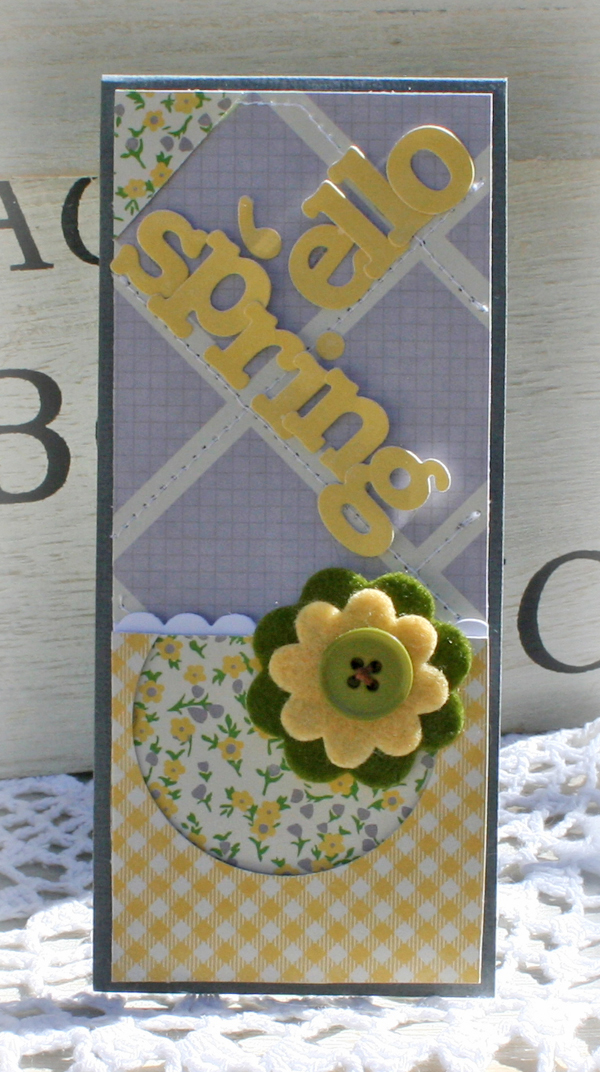 April 'ello spring card danni reid