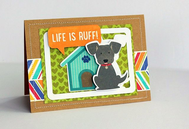 Life is Ruff card by Sarah Webb