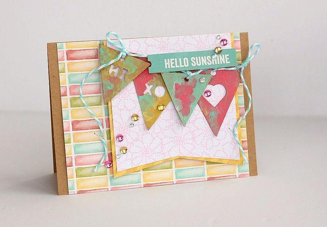Hello Sunshine card by Sarah Webb