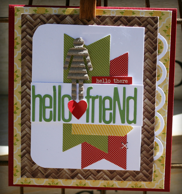 Hello friend card danni reid