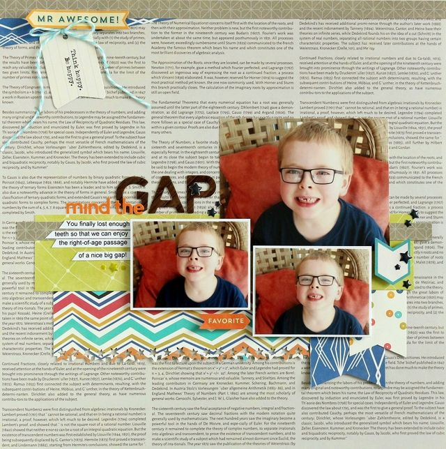 Mind the Gap layout by Sarah Webb