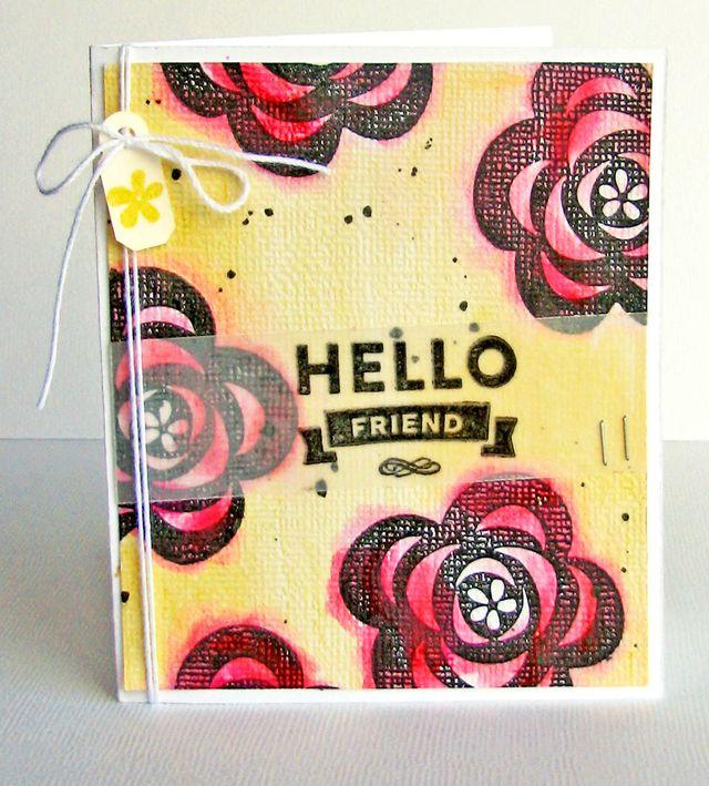 Nicole-Hello Friend card