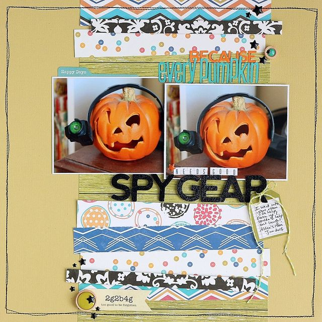 Spy Gear Pumpkin layout by Sarah Webb
