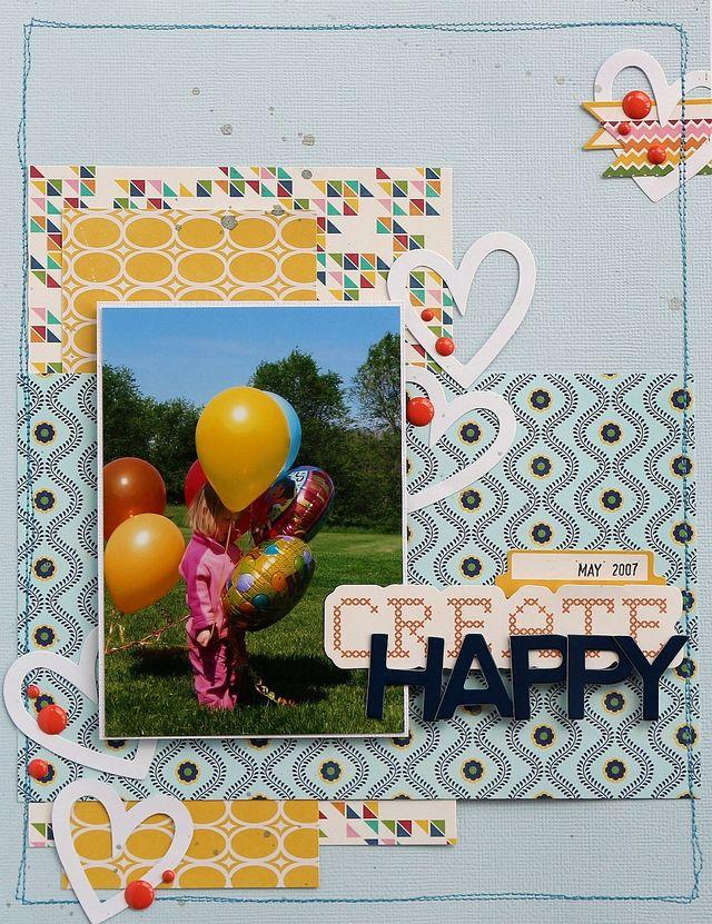 Create Happy layout by Sarah Webb