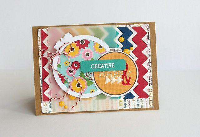 Creative & happy card by Sarah Webb