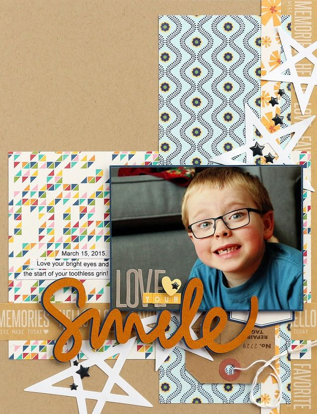 Love your smile layout by Sarah Webb