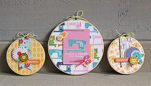 Sewing hoop wall hangings Kimberly Crawford