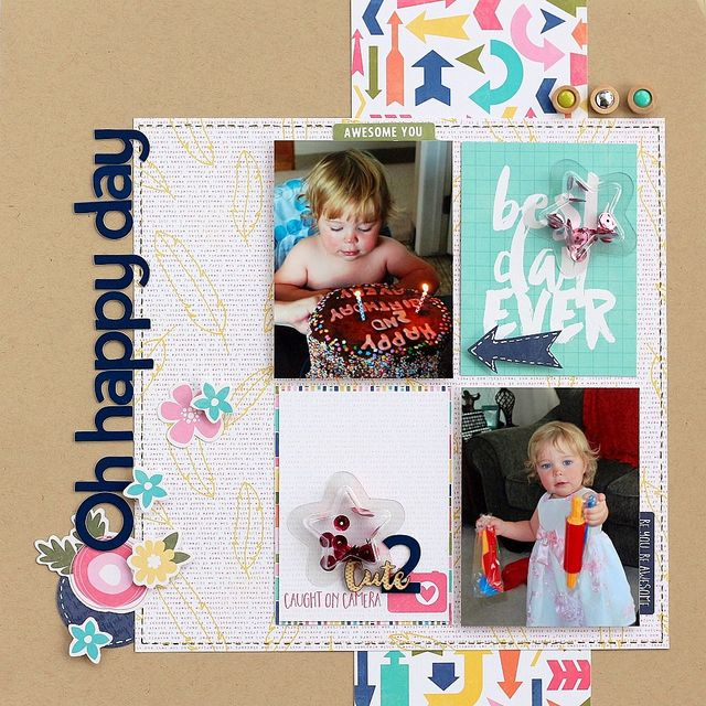 Oh happy day layout by Sarah Webb