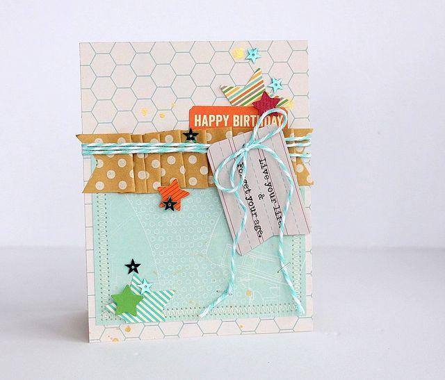 Starry Happy Birthday card by Sarah Webb