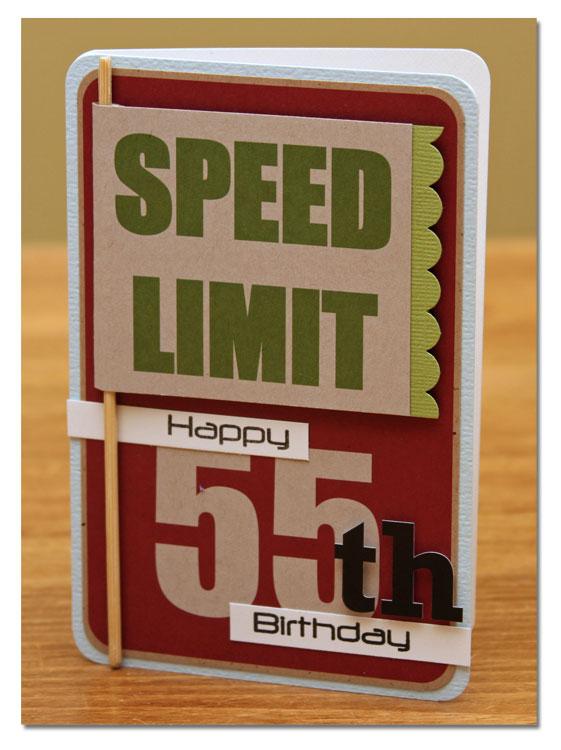 Card Summer Happy 55th Birthday JB