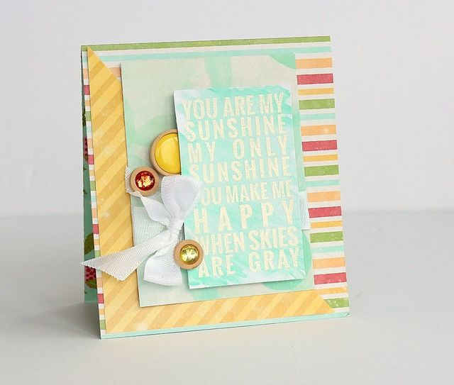You are my Sunshine card by Sarah Webb